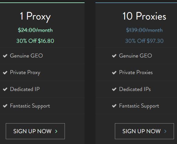 10 dedicate proxies cost $97.3