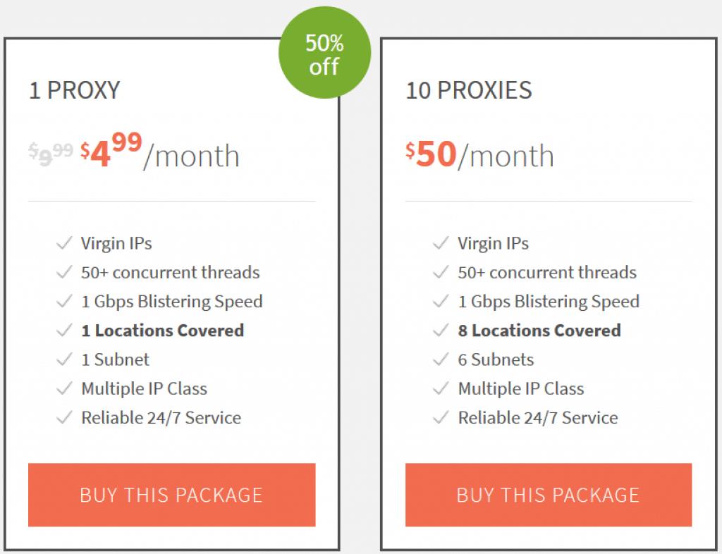 10 premium proxies cost $50