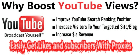proxies for youtube views and subscriber
