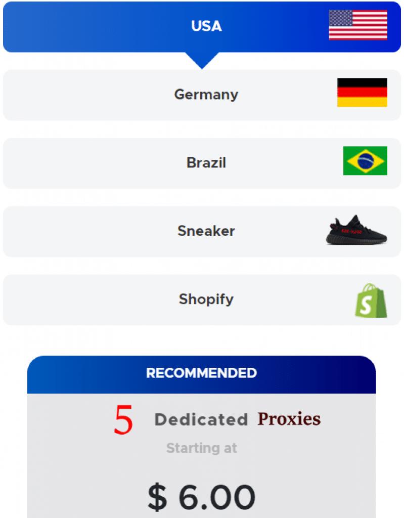 5 dedicated proxies