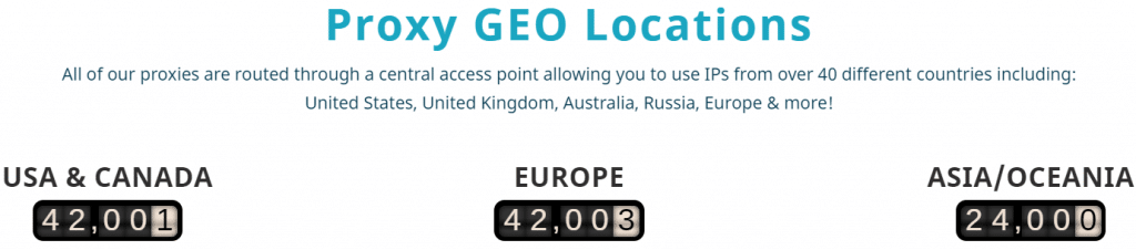 Proxyrack GEO Locations