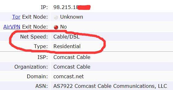 Residential IP detail