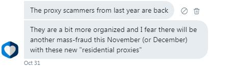 proxy scammers