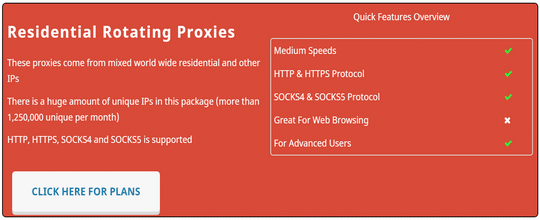 residential proxies of proxyrack