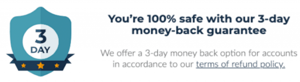 3-day money back