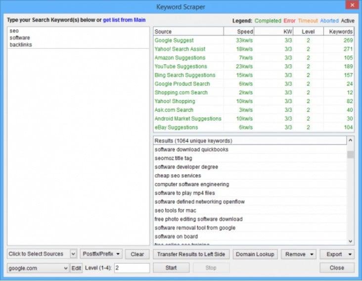Scrapebox Keyword Scraper