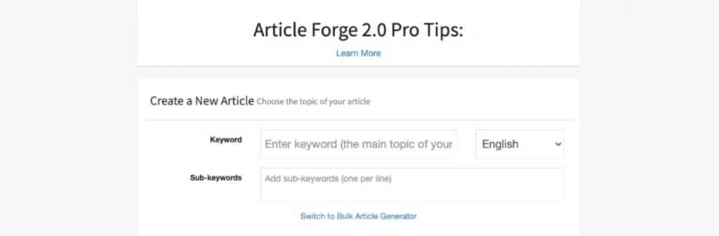 bulk articles generator
