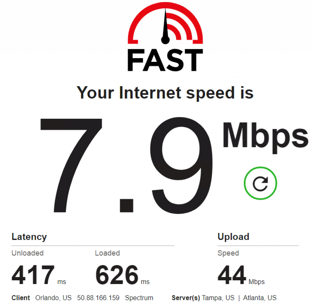 speed test: 50.88.166.159