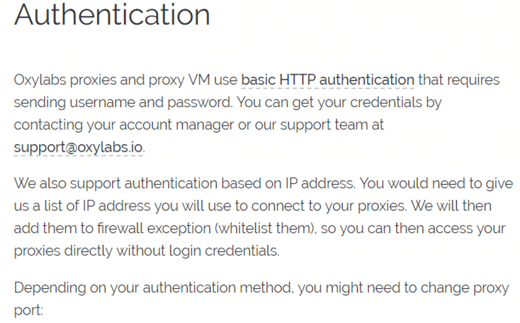 Authentication to use