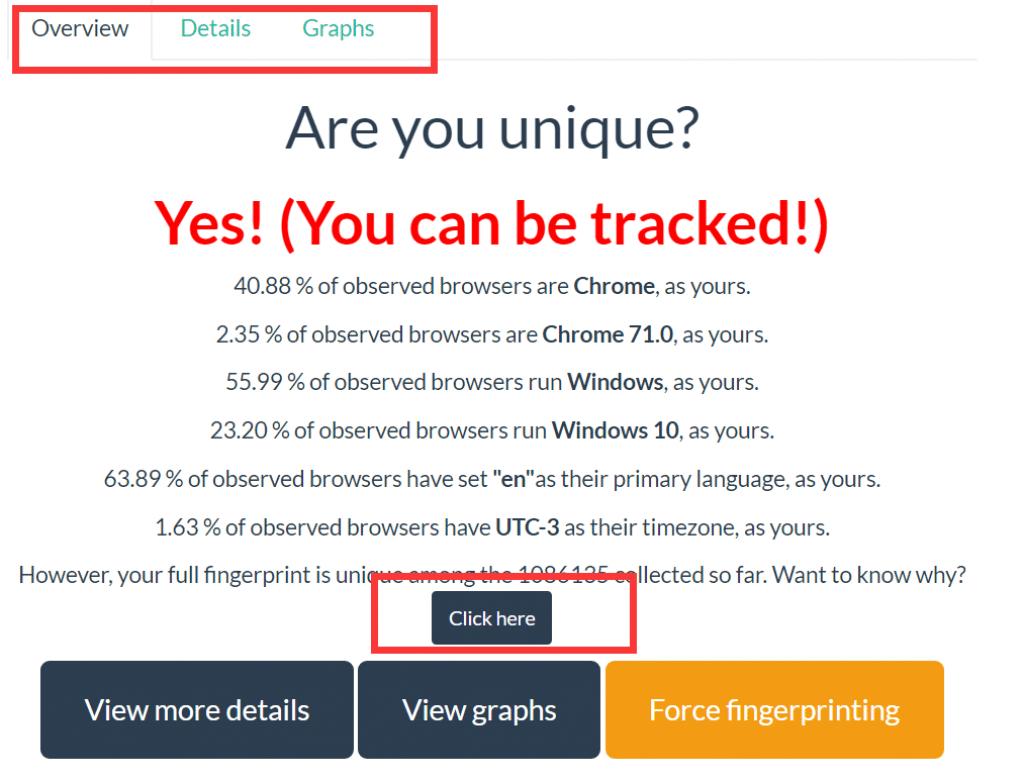 Am I unique test