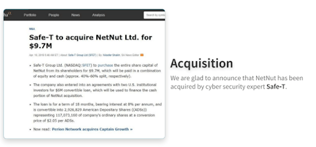 NetNut acquired by SAFE-T