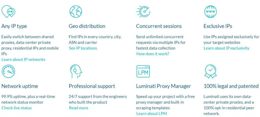 Why choose Luminati