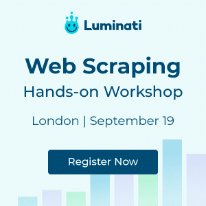 Web Scraping Meeting - London Sep 19