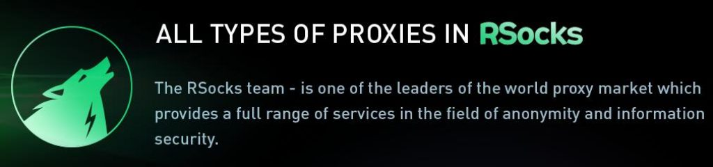 RSOCKS offer all type of proxies