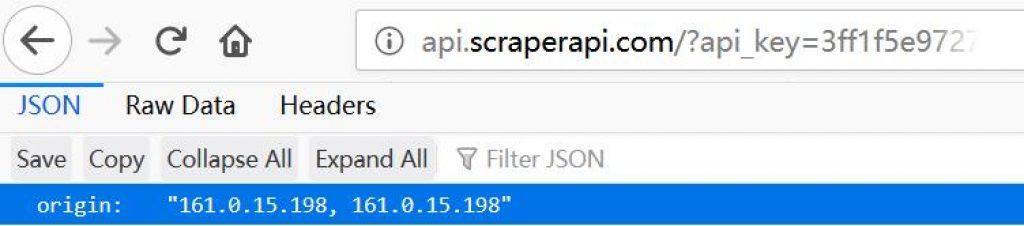 IP of scraperapi