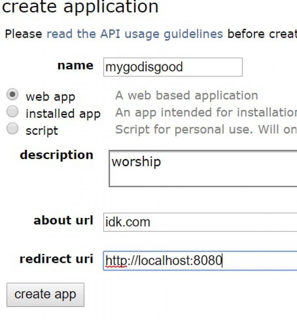 Create Reddit API