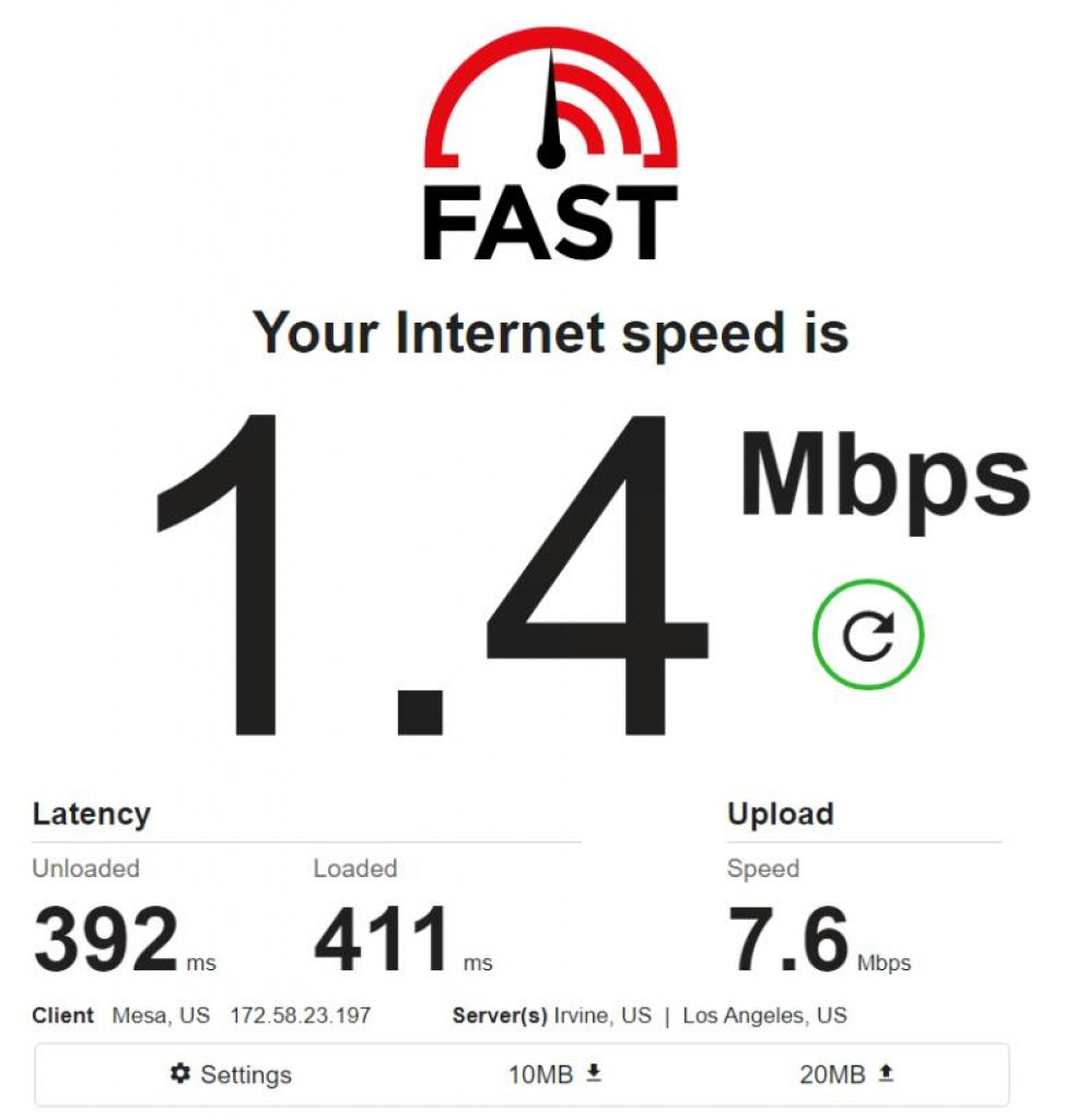 Mobile IPv4 / Location: US / Test 5