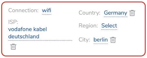 Residential Berlin Targeting settings