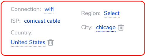 Residential Chicago Targeting settings