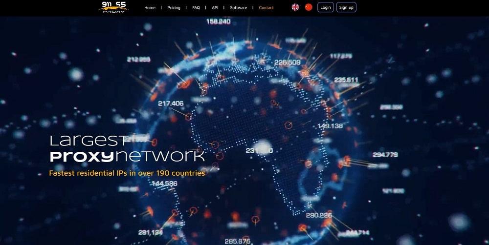 911 Proxy homepage