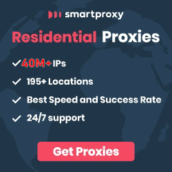 Residential proxy network of Smartproxy.com