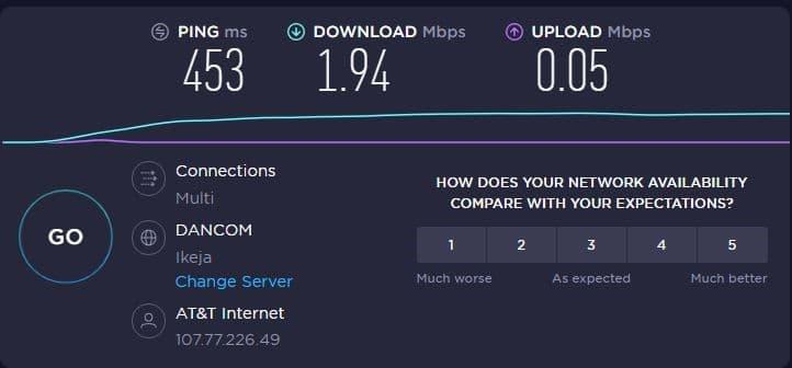 DSL Rentals network Test