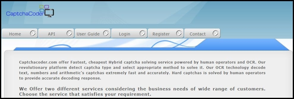 Captcha Coder Homepage