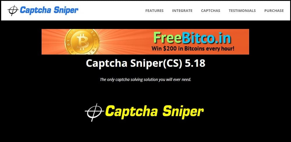 Captcha Sniper Homepage