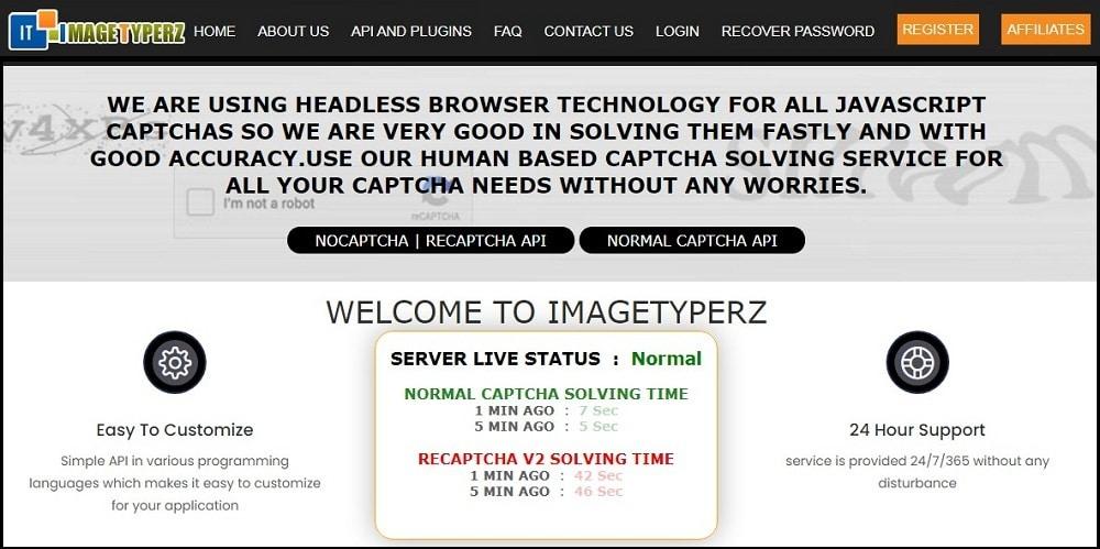 Imagetyperz Homepage