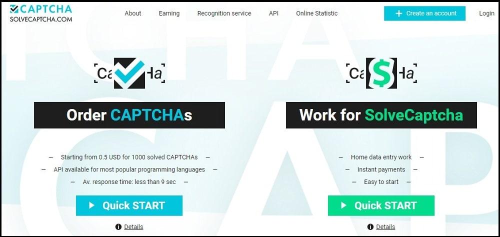 SolveCaptcha Homepage
