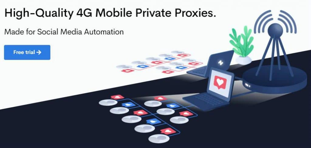 The Social Proxy mobile proxy