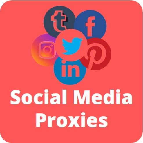 social media proxies