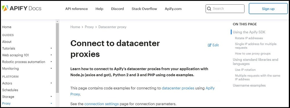 Apify Proxies uses