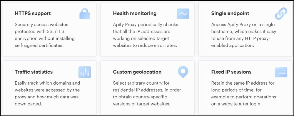 Features of Apify Proxies