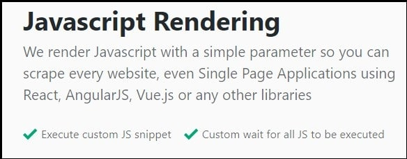 Features of ScrapingBee