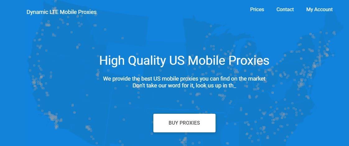 ProxyLTE homepage