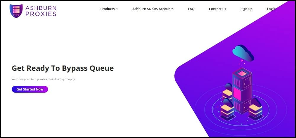 Ashburn Proxies Homepage
