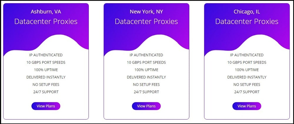 Ashburn Proxies Plan and Pricing