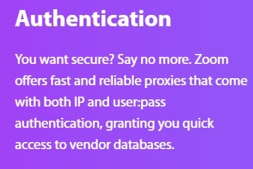 Zoomproxies Authentication