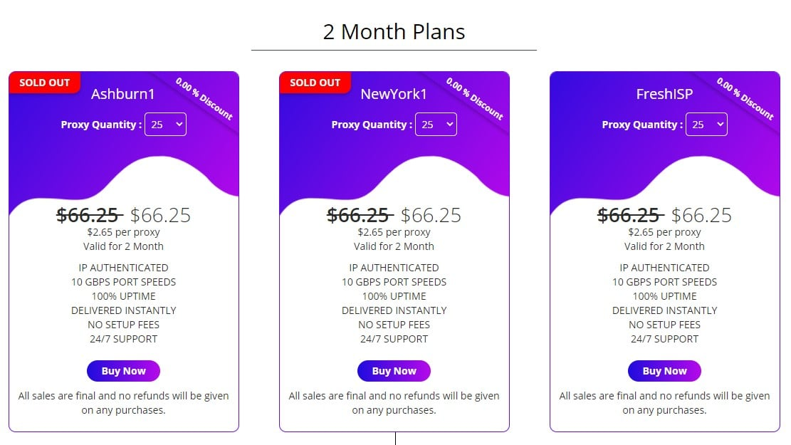 ashburnproxies 2 Month Plans